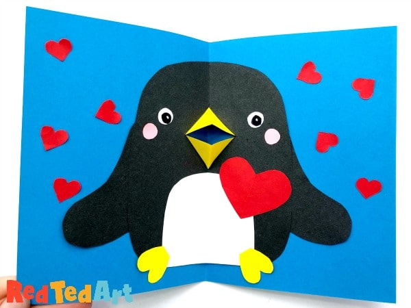 Final Pop Up Valentine's Penguin Card