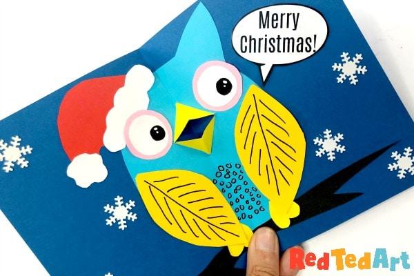 Pop up christmas owl card