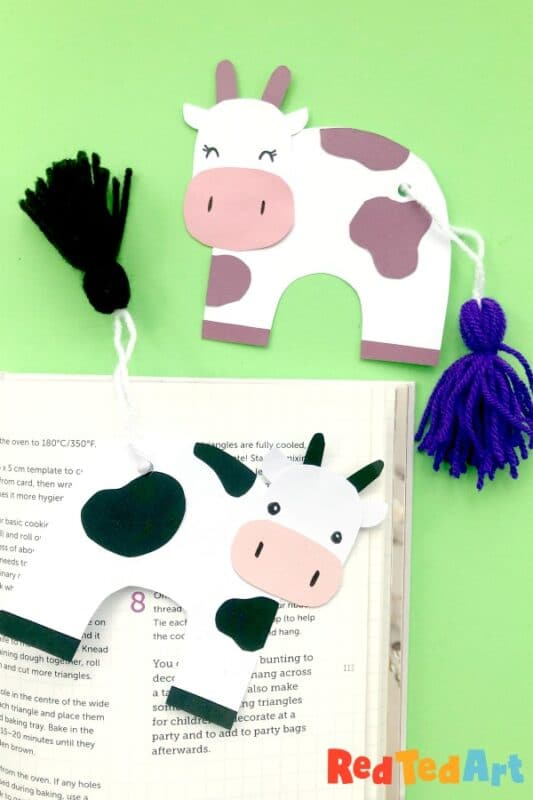 Tassel Tail Cow Bookmark