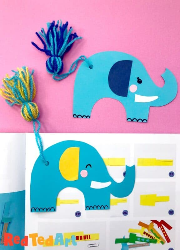 Elephant Bookmark Craft