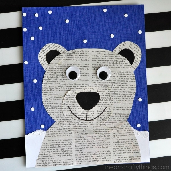 Newspaper Polar Bear Project