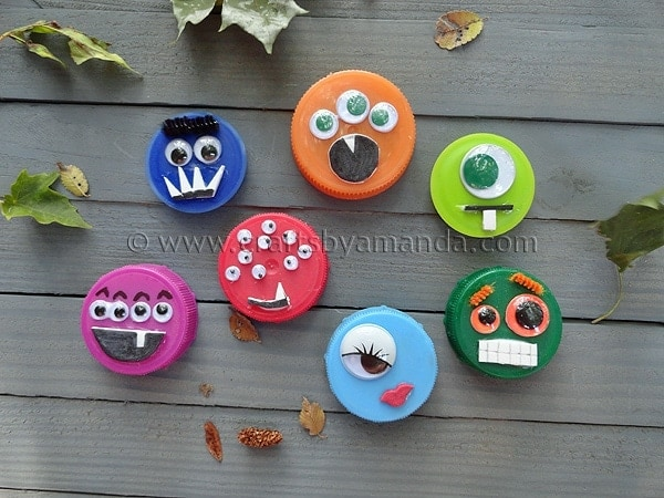 Bottle Lid Monsters