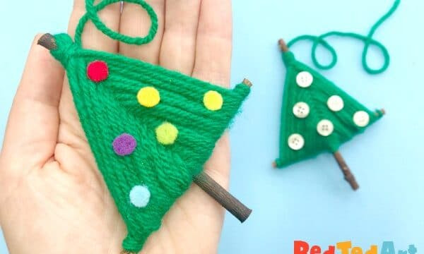 Yarn Christmas Tree Ornament