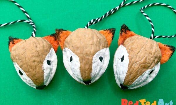 Walnut Fox Ornaments