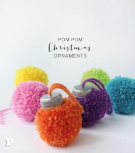 Pom pom tree ornaments