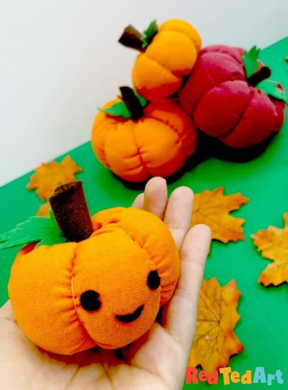 Sew a pumpkin - finished