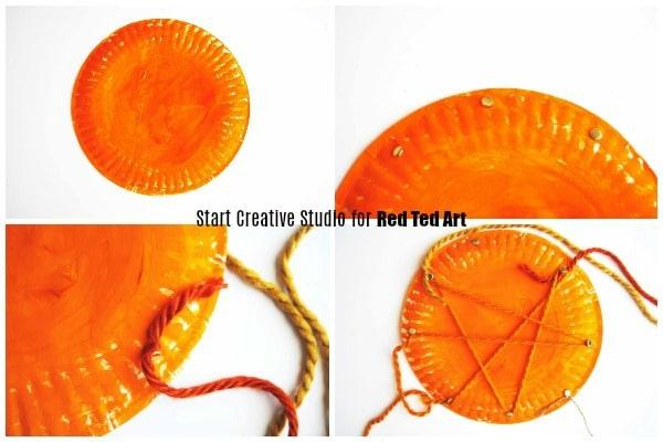 string art pumpkins