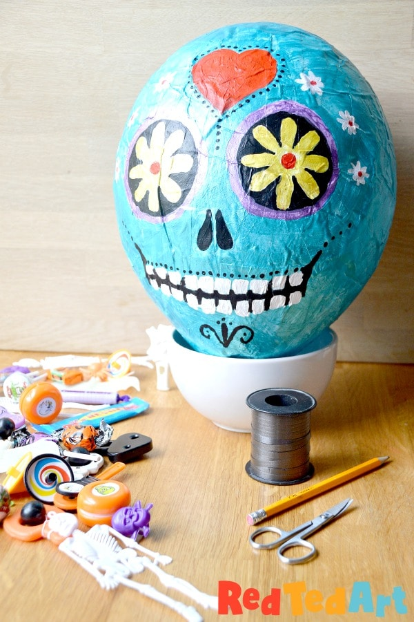 DIY Halloween Party Pinata filled with Halloween Toys