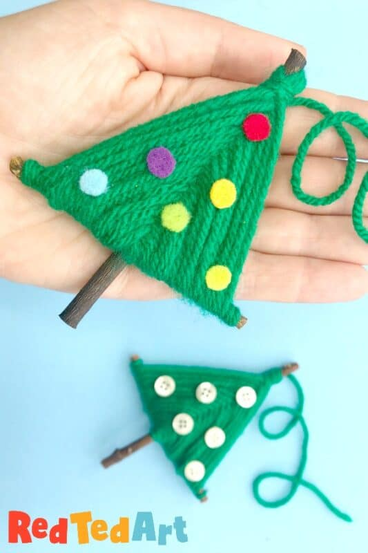 wool Christmas Tree ornaments
