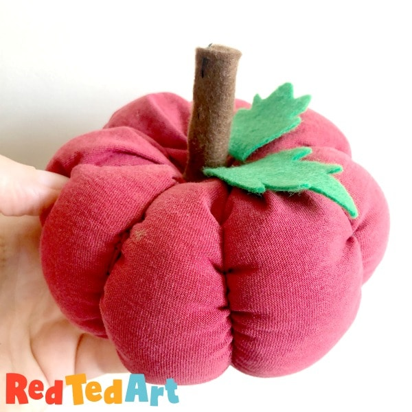 recycled fabric pumpkin