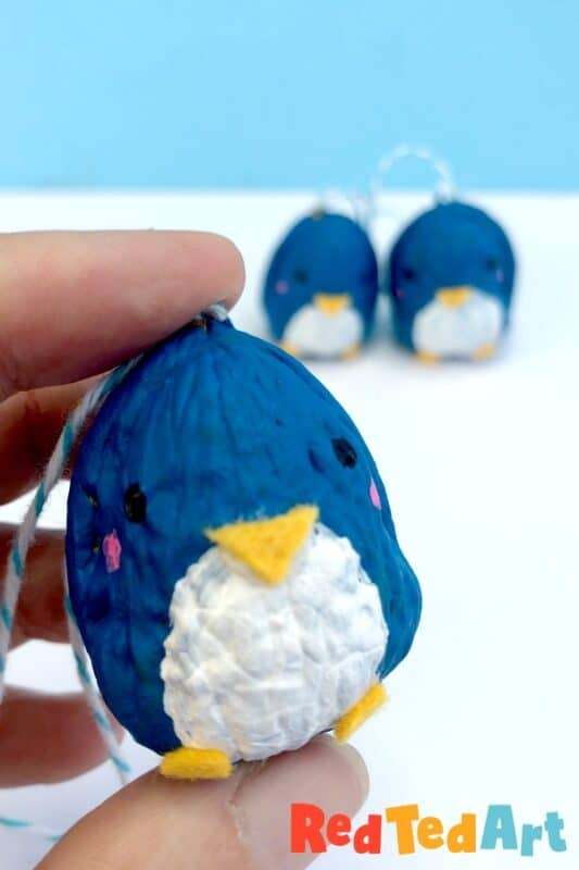 Walnut Penguin Ornaments