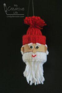Yarn santa ornament