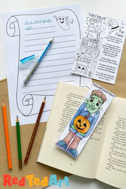 Printable Frankenstein Bookmark