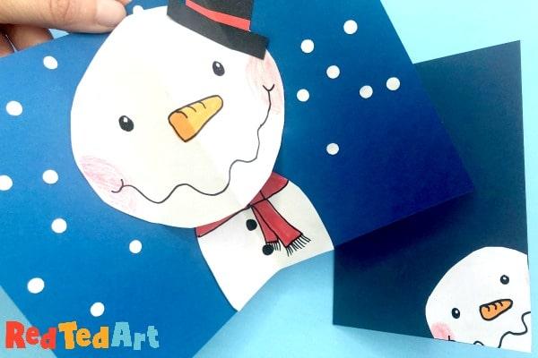 Pop Up Snowman Cards