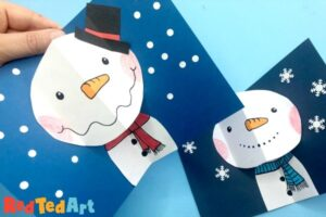 Pop Up Snowman Cards