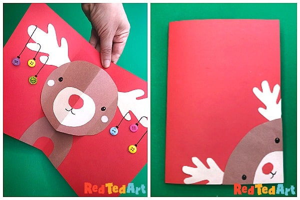 Front of rudolph card