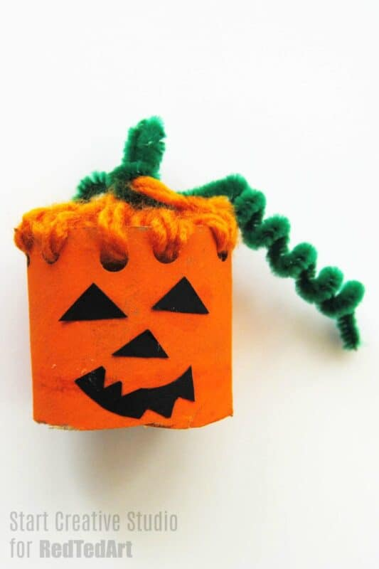 Paper Tube Pumpkin
