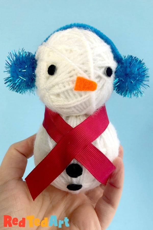 3d Yarn Wrapped Snowman