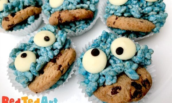 Cookie Monster Rice Crispy Treats