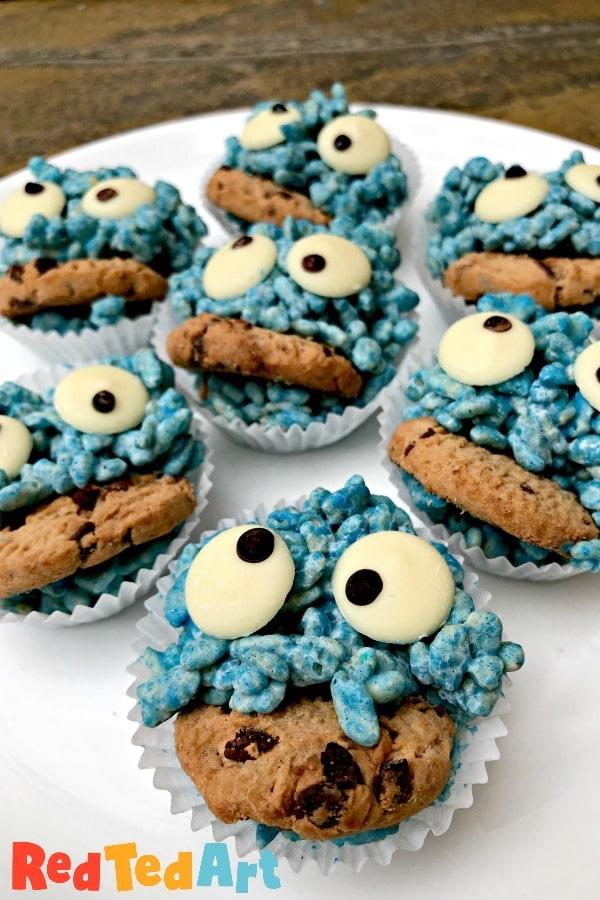 Cookie Monster Rice Crispy Treats
