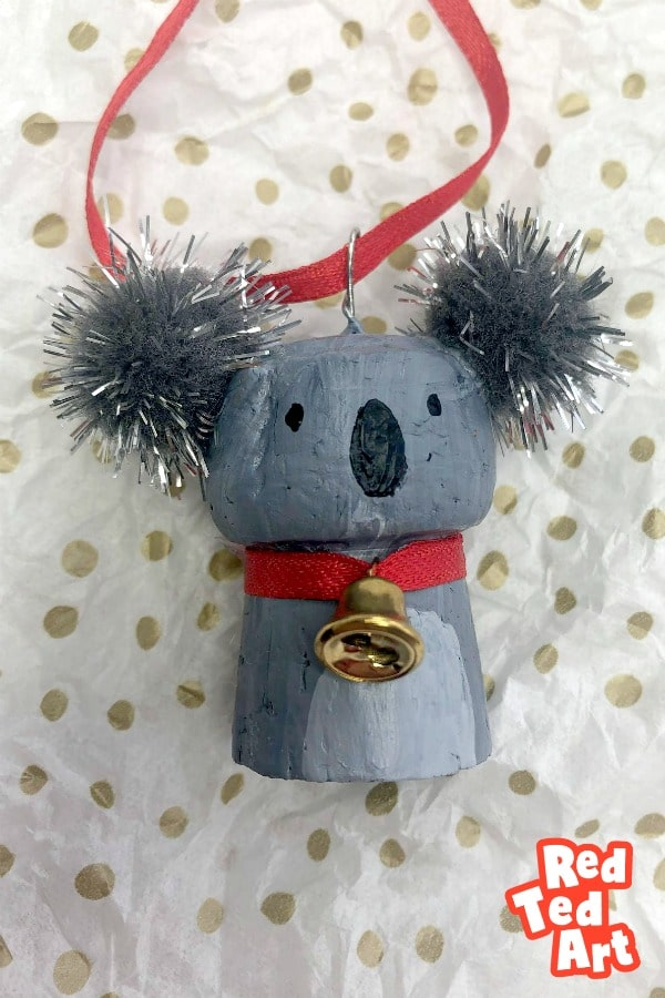 Cork Koala Ornament