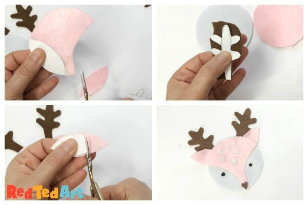 cut out the reindeer shapes