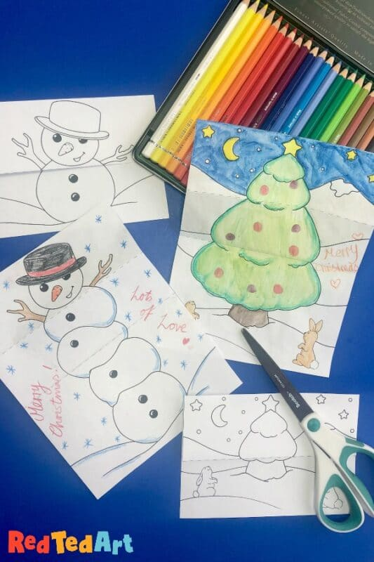 Expandable Christmas Cards