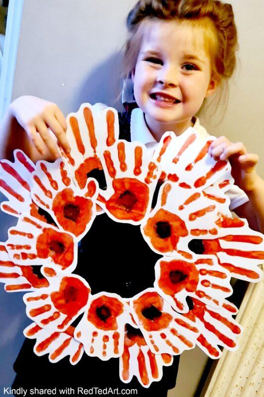 Handprint Poppy Wreath