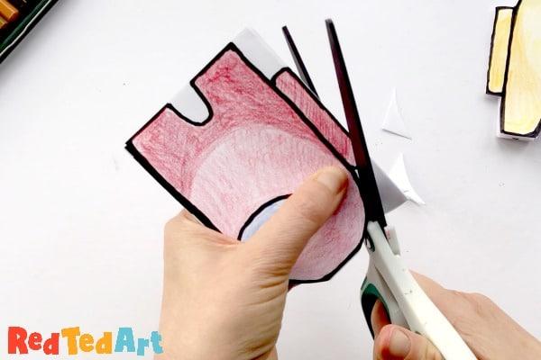 cutting the final among us mini notebook shape