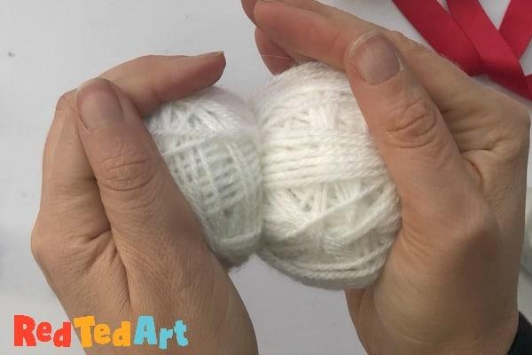connecting the yarn balls