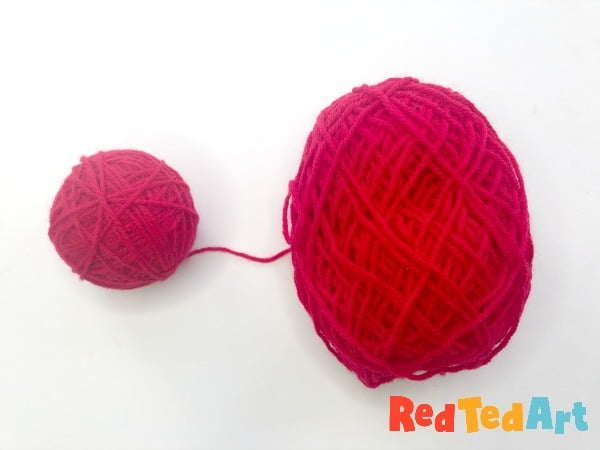 wrapped yarn ornament