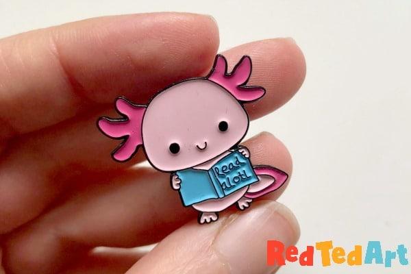 DIY Axolotl Enamel Pin