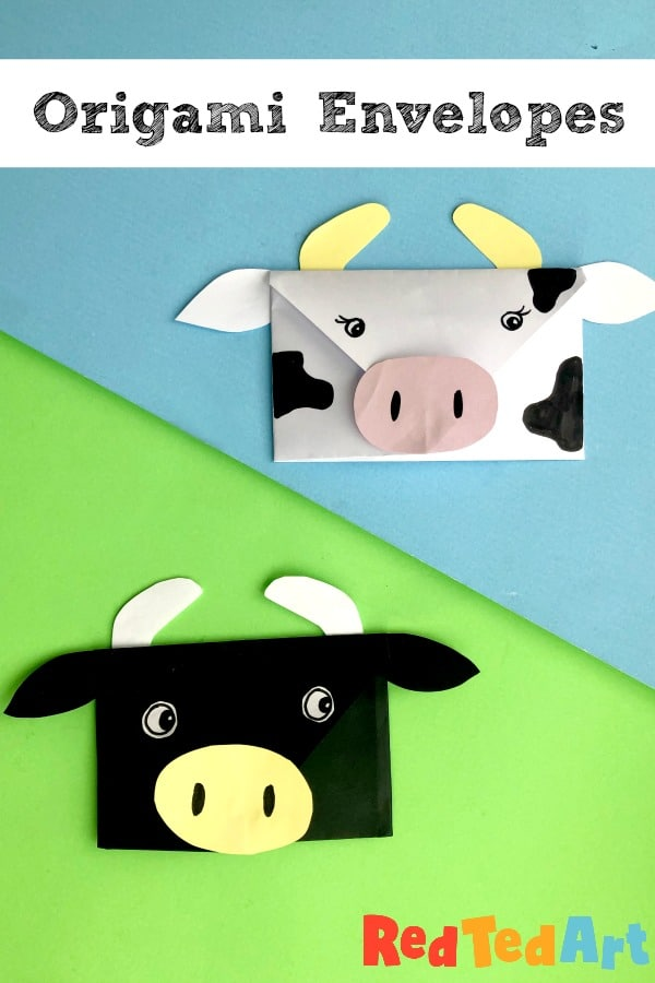 Cow envelope craft