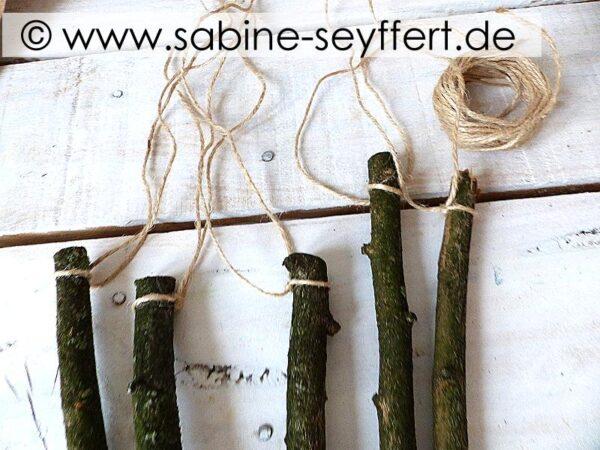 Sticks for christmas tree ornaments
