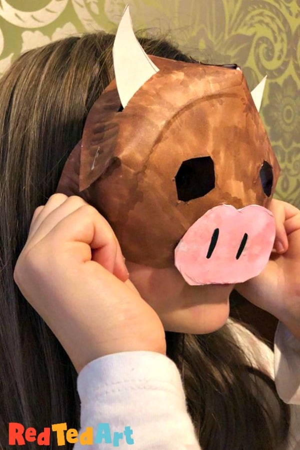 Paper plate Year of the Ox Mask for kids
