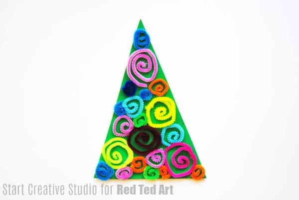 Pipecleaner Christmas Tree Decor