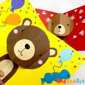 pop up birthday card bear