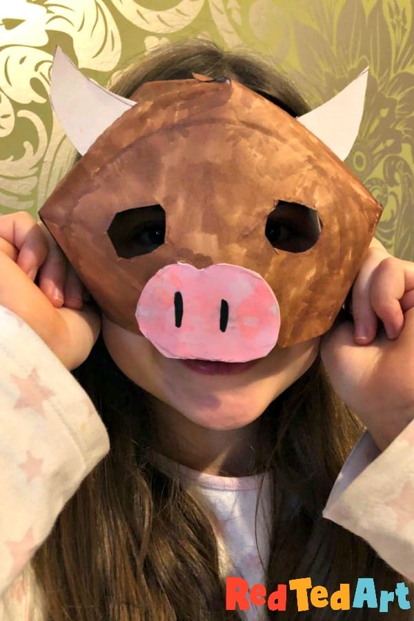Year of the Ox Mask for kids