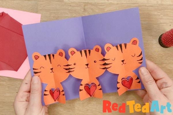 basic tiger pop up card