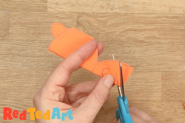 Cut your paper chain tiger out