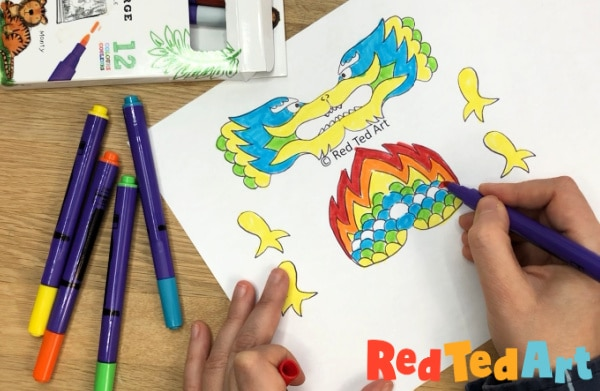 Free Dragon Printable Coloring