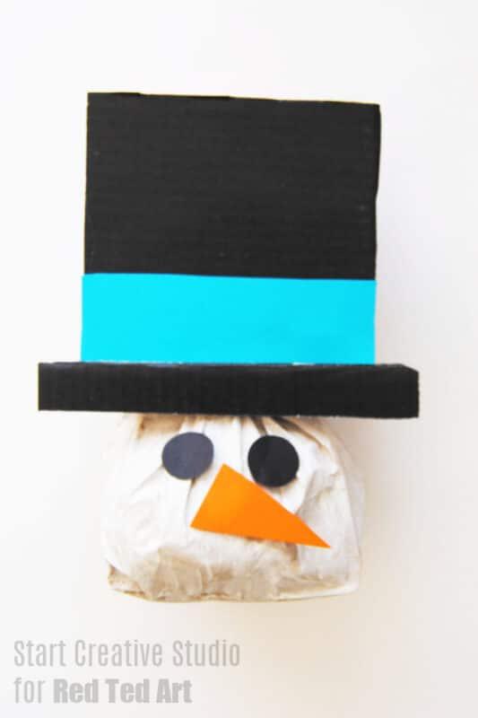 Paper Bag Snowman