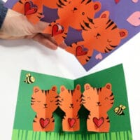 Easy Pop Up Tiger Card