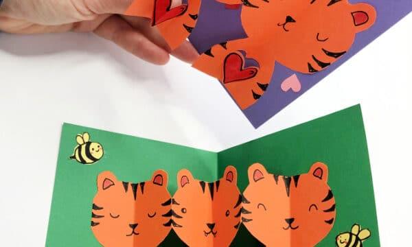 Easy Pop Up Tiger Card