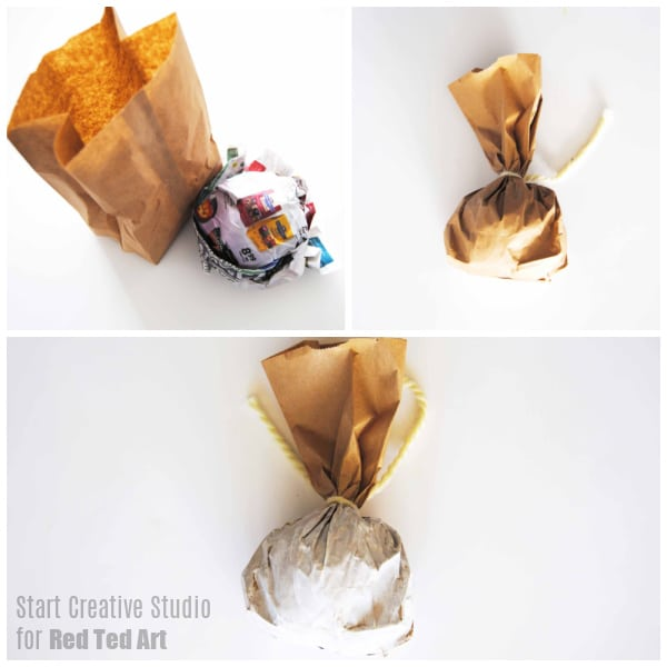 Combine newspapers and paper bags!