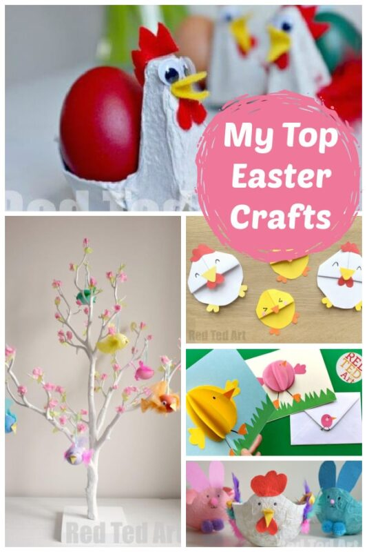 My Top Easter Crafts collage
