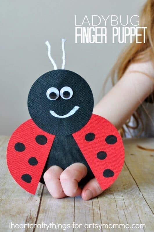 ladybug finger puppets