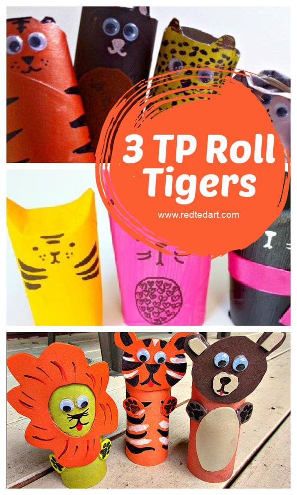 3 ways to make a TP Roll Tiger