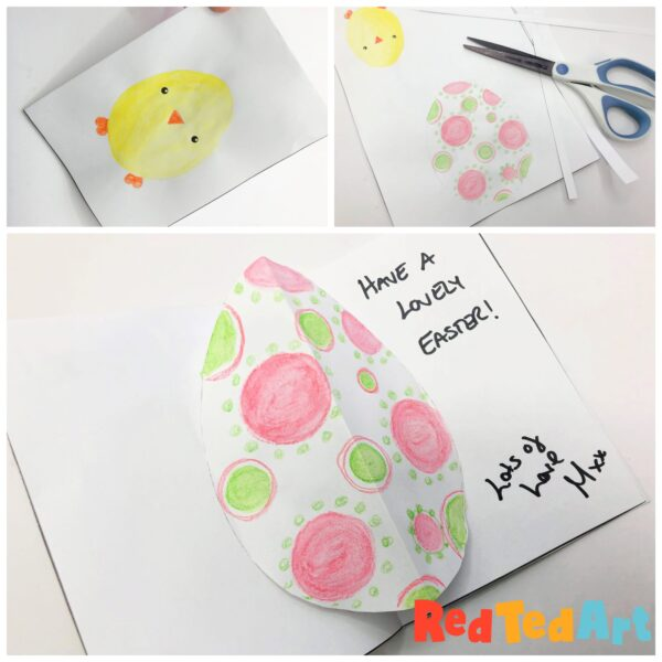 Pop Up Easter Egg Card - made from one sheet of paper
