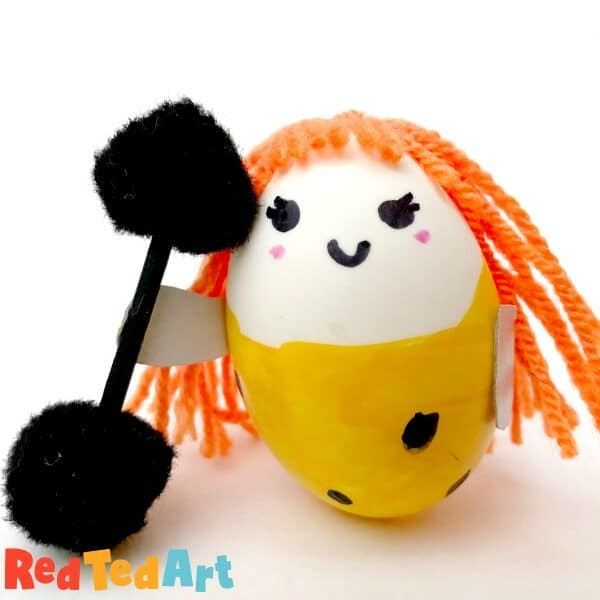 Strong Woman Egg Person